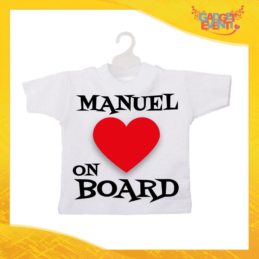 Mini T Shirt Personalizzata Heart On Board Con Nome Gadget Eventi
