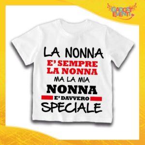 """Maglietta Bianca Bimbo """"Nonna è Speciale"""" Idea Regalo T-Shirt Festa dei Nonni Gadget Eventi"""