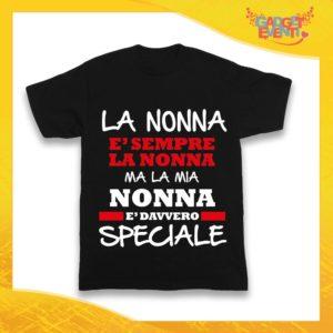 """Maglietta Nera Bimbo """"Nonna è Speciale"""" Idea Regalo T-Shirt Festa dei Nonni Gadget Eventi"""