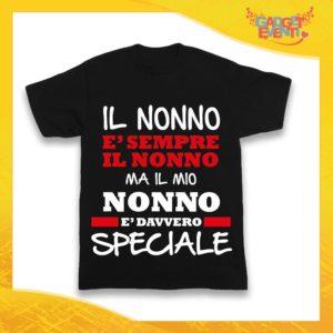 """Maglietta Nera Bimbo """"Nonno è Speciale"""" Idea Regalo T-Shirt Festa dei Nonni Gadget Eventi"""