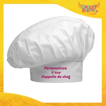 personalizza cappello chef bianco