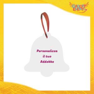 Addobbo Forma a Campana Appendino Natalizio Personalizzato con frasi scritte foto e immagini Idea per Decorare la casa e il tuo albero di natale Gadget Eventi