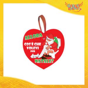 """Addobbo Natalizio Cuore Rosso """"Cosa Volevi per Natale"""" Appendino per Albero e Decorazioni Idea Regalo Natalizia Originale Gadget Eventi"""