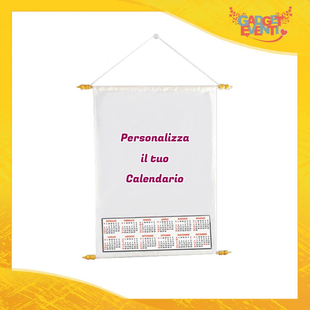 Calendario Personalizzato con Foto Testi e Immagini Idea Regalo Originale Dotato di Asta per appenderlo Gadget Eventi
