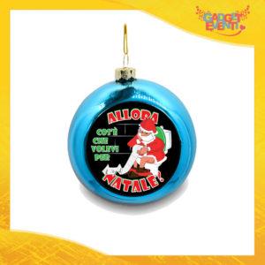 """Addobbo Palla Natalizia Blu Grafica Nera """"Cosa Volevi per Natale"""" Appendino Natalizio per Decorazioni Idea Regalo Festività Natalizie Gadget Eventi"""
