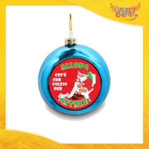 """Addobbo Palla Natalizia Blu Grafica Rossa """"Cosa Volevi per Natale"""" Appendino Natalizio per Decorazioni Idea Regalo Festività Natalizie Gadget Eventi"""