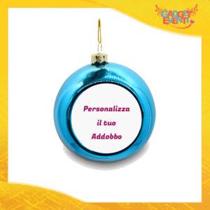 Addobbo Palla di Natale Colore Blu Appendino Natalizio Personalizzato con frasi scritte foto e immagini Idea per Decorare la casa e il tuo albero Gadget Eventi
