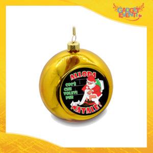 """Addobbo Palla Natalizia Oro Grafica Nera """"Cosa Volevi per Natale"""" Appendino Natalizio per Decorazioni Idea Regalo Festività Natalizie Gadget Eventi"""