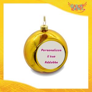 Addobbo Palla di Natale Colore Oro Appendino Natalizio Personalizzato con frasi scritte foto e immagini Idea per Decorare la casa e il tuo albero Gadget Eventi