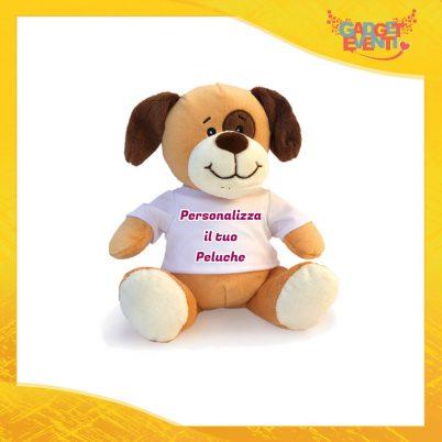 Peluche Cane Personalizzato con testi foto e immagini morbido pupazzo pupazzetto Idea Regalo Originale Gadget Eventi
