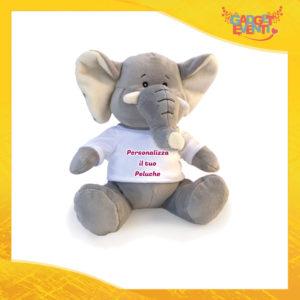 Peluche Elefante Personalizzato con testi foto e immagini morbido pupazzo pupazzetto Idea Regalo Originale Gadget Eventi