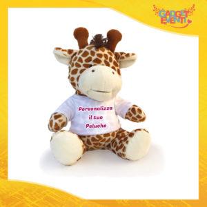 Peluche Giraffa Personalizzato con testi foto e immagini morbido pupazzo pupazzetto Idea Regalo Originale Gadget Eventi