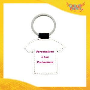 Portachiavi a forma di T-Shirt con anello metallico Personalizzato con foto testi e immagini Idea Regalo esclusiva Gadget Eventi