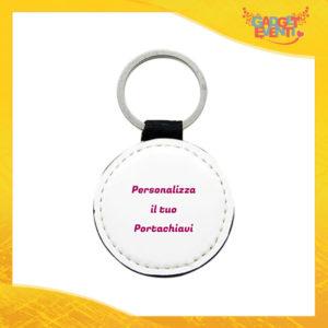 Portachiavi Tondo con anello metallico Personalizzato con foto testi e immagini Idea Regalo esclusiva Gadget Eventi