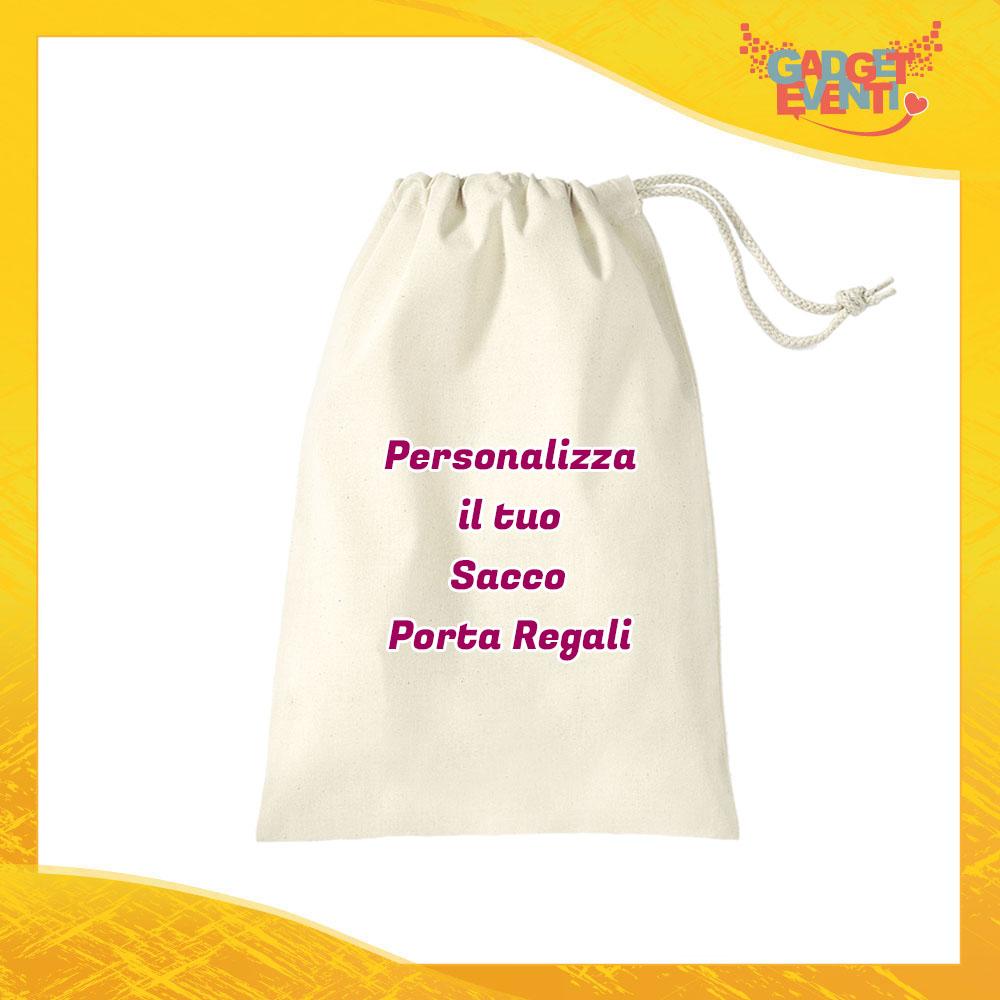 Sacco Porta Regali Personalizzato con Foto Testi e Immagini Idea Regalo Gadget Eventi