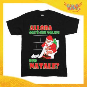 """T-Shirt Bimbo Natalizia Nera """"Cosa Volevi per Natale"""" Maglietta per l'inverno Maglia Natalizia Idea Regalo per Bambini Gadget Eventi"""