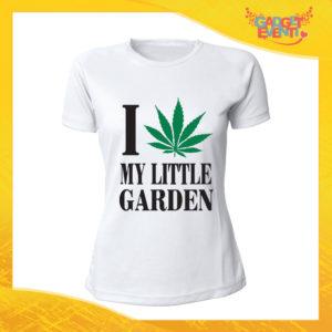 """T-Shirt Donna Bianca """"I Love my Little Garden"""" Maglia Maglietta Idea Regalo Divertente Gadget Eventi"""