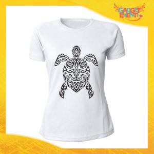 """T-Shirt Donna Bianca """"Turtle Decoration"""" Maglia Maglietta Idea Regalo Divertente Gadget Eventi"""