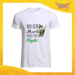 """T-Shirt Uomo Bianca """"Non Cerco Marito"""" Maglia Maglietta Maschile Idea Regalo Divertente per un Ragazzo Gadget Eventi"""