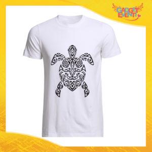 """T-Shirt Uomo Bianca """"Turtle Decoration"""" Maglia Maglietta Maschile Idea Regalo Divertente per un Ragazzo Gadget Eventi"""