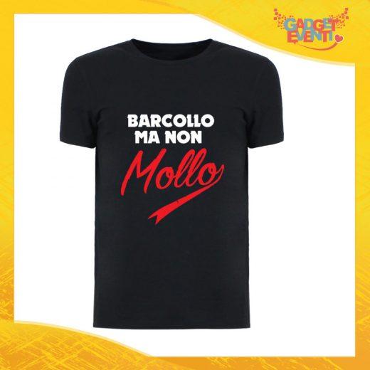 """T-Shirt Uomo Nera """"Barcollo ma non Mollo"""" Maglia Maglietta Maschile Idea Regalo Divertente per un Ragazzo Gadget Eventi"""