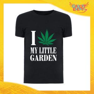 """T-Shirt Uomo Nera """"I Love my Little Garden"""" Maglia Maglietta Maschile Idea Regalo Divertente per un Ragazzo Gadget Eventi"""