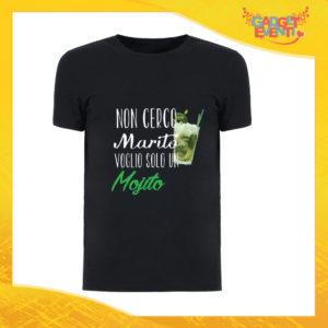 """T-Shirt Uomo Nera """"Non Cerco Marito"""" Maglia Maglietta Maschile Idea Regalo Divertente per un Ragazzo Gadget Eventi"""
