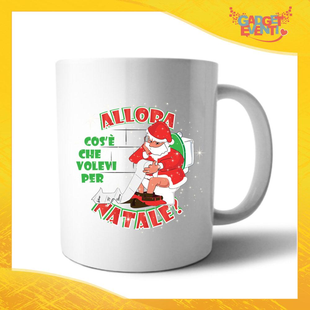 """Tazza Natalizia Personalizzata Grafica Bianca """"Cosa Volevi per Natale"""" Mug Colazione Breakfast Idea Regalo Festività Natalizie Gadget Eventi"""
