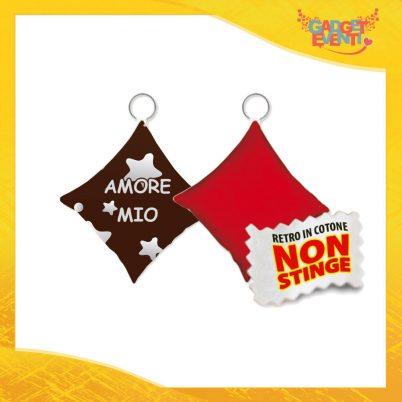 """Mini Cuscino di San Valentino Personalizzato Retro Rosso """"Amore Mio Stelle"""" Mini Federa dell'amore Idea Regalo per Innamorati Gadget Eventi"""