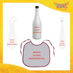 Scegli i nostri prodotti per Addii al Celibato e Nubilato Bavaglioni Bottiglie da Vino Maxi Cravattoni e Cravatte Gadget Eventi