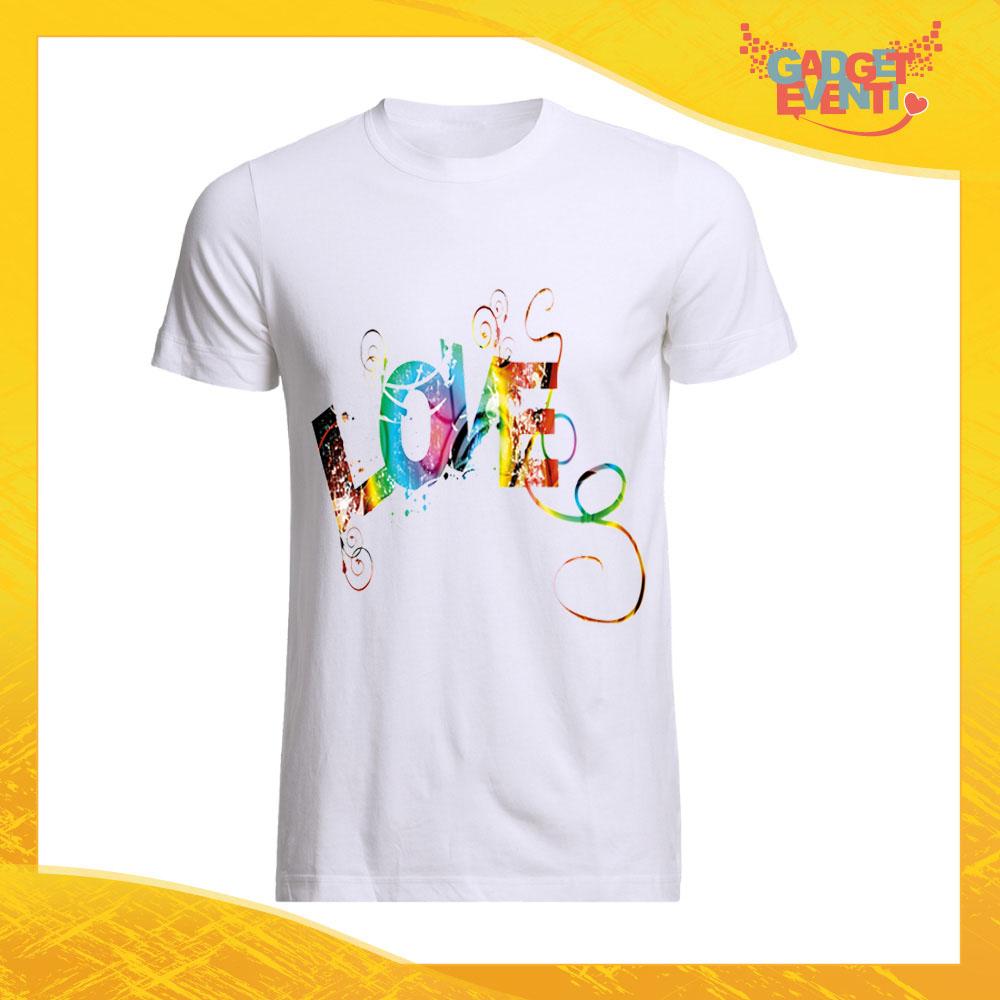 online store b542f 6361f Maglietta Uomo Love Personalizzata per Innamorati