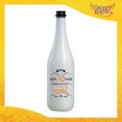 """Bottiglia da Vino Personalizzata """"Vintage Girl"""" Bottiglie per Compleanni Idea Regalo Originale per Feste di Compleanno Gadget Eventi"""