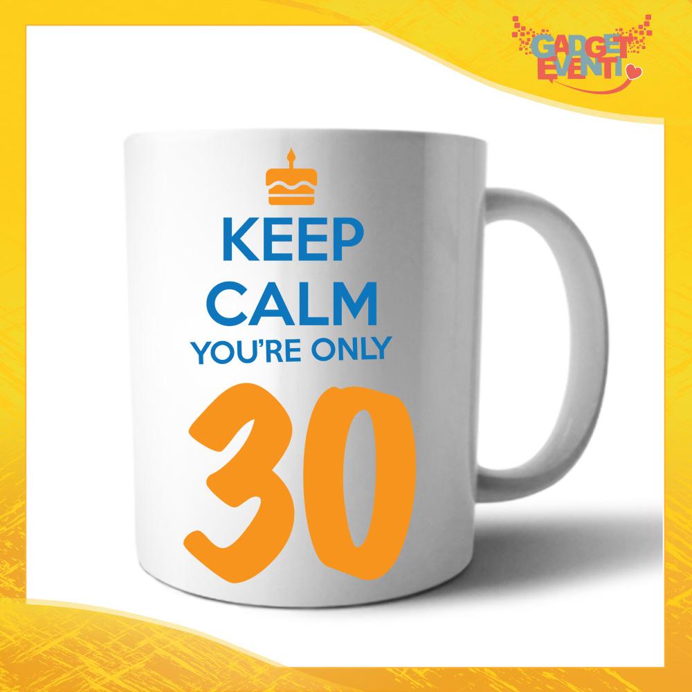 """Tazza Personalizzata """"Keep Calm Thirty"""" Mug per Compleanni Regalo Tazze Originali per Feste di Compleanno Gadget Eventi"""