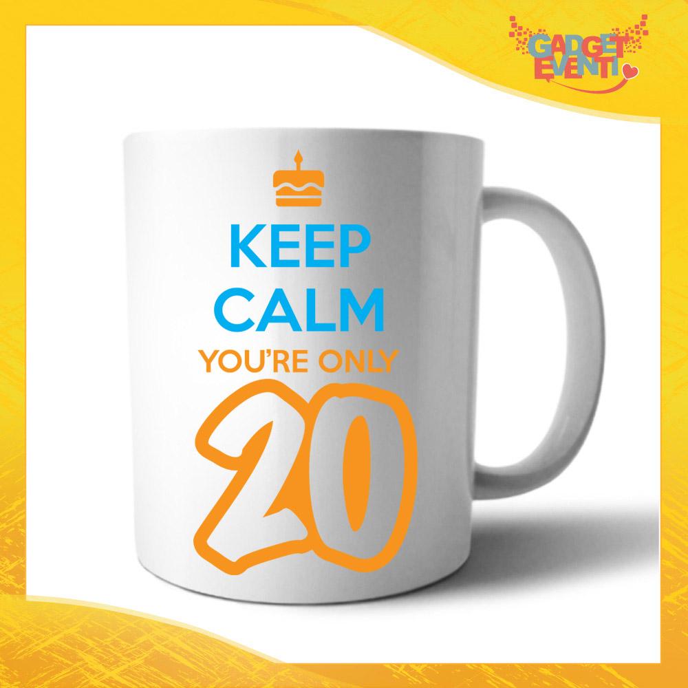 """Tazza Personalizzata """"Keep Calm Twenty"""" Grafica Arancio Mug per Compleanni Regalo Tazze Originali per Feste di Compleanno Gadget Eventi"""