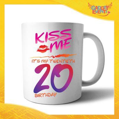 """Tazza Personalizzata """"Kiss Me Birthday"""" Mug per Compleanni Regalo Tazze Originali per Feste di Compleanno Gadget Eventi"""