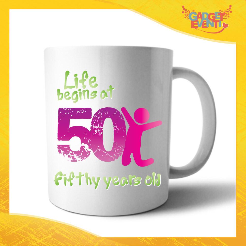 """Tazza Personalizzata """"Life Begin"""" Mug per Compleanni Regalo Tazze Originali per Feste di Compleanno Gadget Eventi"""