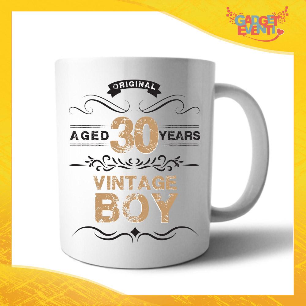 """Tazza Personalizzata """"Vintage Boy"""" Mug per Compleanni Regalo Tazze Originali per Feste di Compleanno Gadget Eventi"""