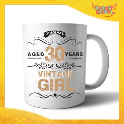 """Tazza Personalizzata """"Vintage Girl"""" Mug per Compleanni Regalo Tazze Originali per Feste di Compleanno Gadget Eventi"""