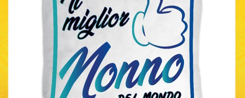 CUSCINO QUADRATO NONNI IL/LA MIGLIOR NONNO/A DEL MONDO BLU