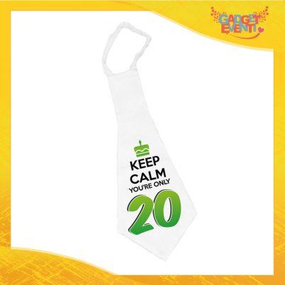 """Maxi Cravatta Personalizzata """"Keep Calm Ventesimo"""" Cravattone Originale Idea Regalo per Feste di Compleanno Gadget Eventi"""