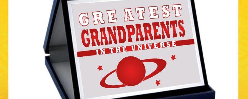 TARGA NONNI GREATEST GRANDPA/MA/GRANDPARENTS ROSSA