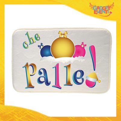 """Tappeto per la tua casa Natalizio Personalizzato grafica Multicolore """"Che Palle"""" Idea Regalo per la Casa Zerbino di Natale per Pavimenti Gadget Eventi"""