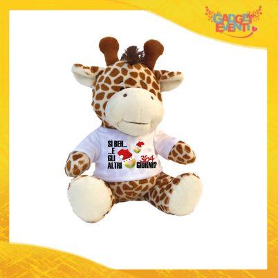 """Peluche Giraffa Personalizzato """"Gli Altri 364 Giorni?"""" morbido pupazzo pupazzetto Natalizio grafica Nera Idea Regalo Originale Festa del Natale Gadget Eventi"""