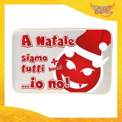 """Tappeto per la tua casa Natalizio Personalizzato grafica Rossa """"A Natale Siamo Tutti Più Buoni"""" Idea Regalo per la Casa Zerbino di Natale per Pavimenti Gadget Eventi"""