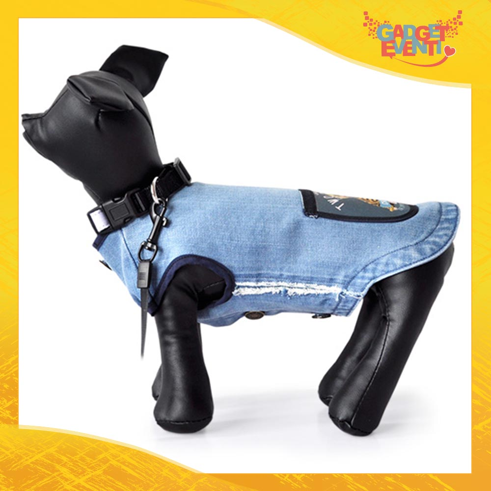 Abito per Cani di Jeans personalizzata con foto testi e immagini Abitino per il tuo Animale Domestico Gadget Eventi