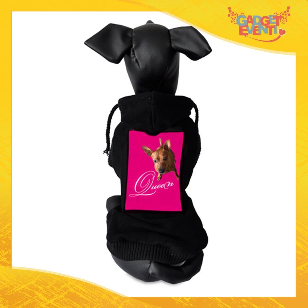 Felpa per Cani Nera personalizzata con foto testi e immagini Abitino Abito per il tuo Animale Domestico Gadget Eventi