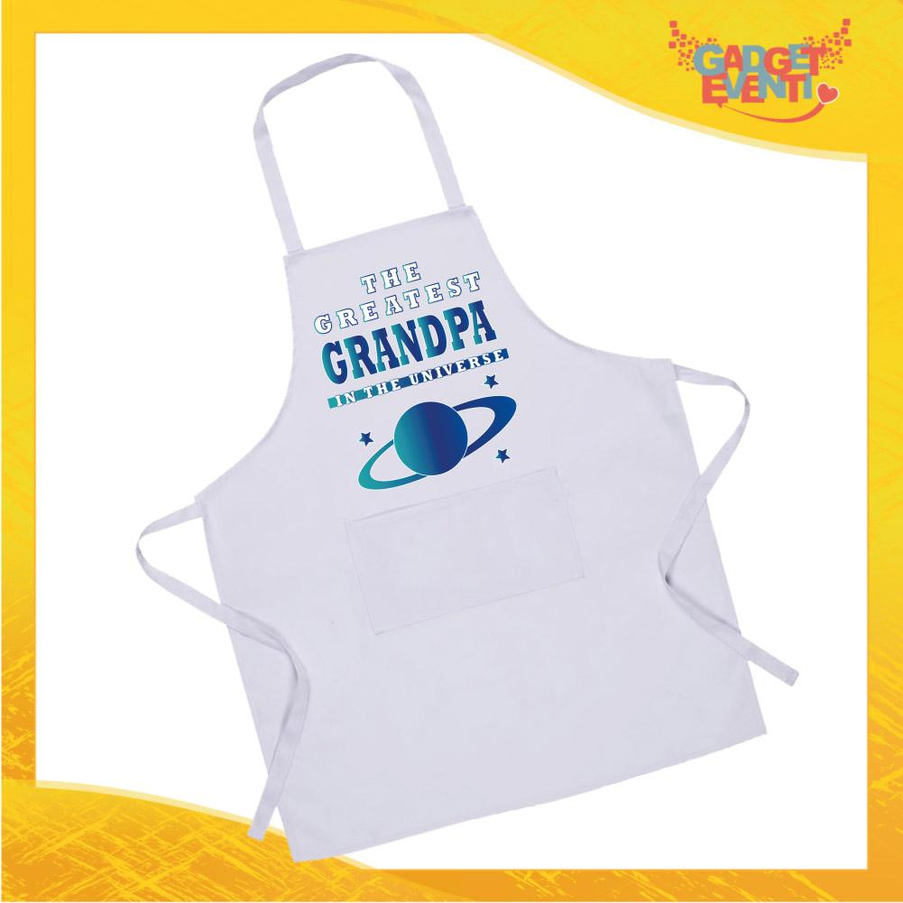 """Grembiule da Cucina Bianco """"Greatest Grandpa"""" Ristorazione Idea Regalo per settore alimentare Gadget Eventi"""