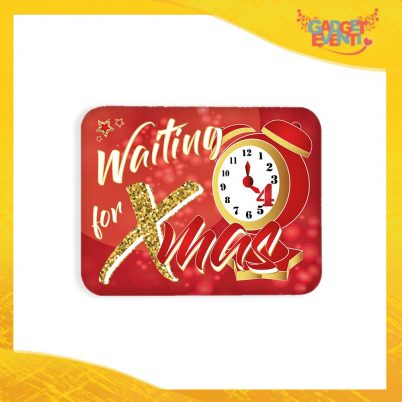 MOUSEPAD RETTANGOLO WAITING FOR XMAS ROSSO