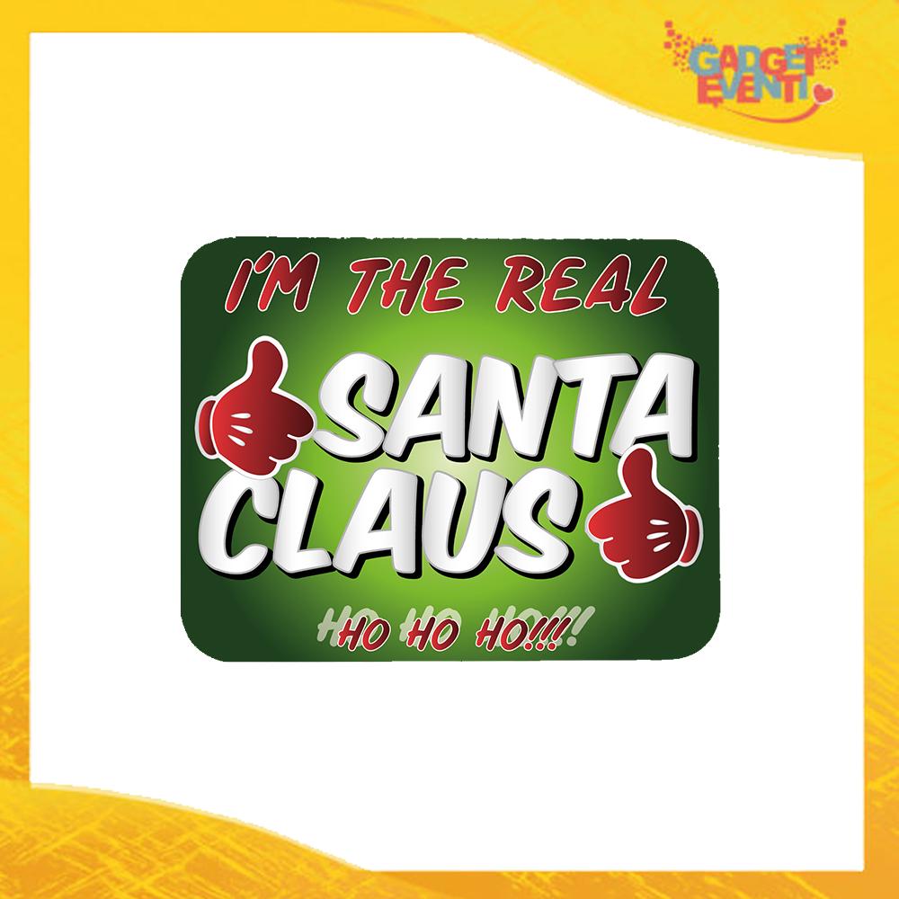"""Mouse Pad Rettangolare Natalizio grafica Verde """"Real Santa Claus"""" tappetino pc ufficio idea regalo festa di Natale gadget eventi"""