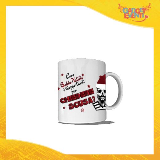 """Tazza Natalizia Personalizzata """"Caro Babbo Natale..."""" grafica Bianca Mug Colazione Breakfast Idea Regalo Festività Natalizie Gadget Eventi"""
